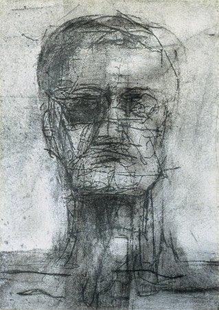 <strong>Der Präsident, blind</strong> 2002<br />Mischtechnik<br />38 x 27 cm