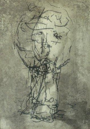 <strong>Rücksicht</strong> 2001<br />Zeichnung<br />38 x 27 cm