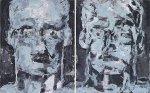 Gemini 2003Acryl auf Leinwand Diptychon100 x 160 cm