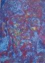 Roter Kopf 2001Gouage auf mdf38 x 27 cm