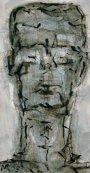Kopf o.T. 2005 Mischtechnik32 x 17 cm